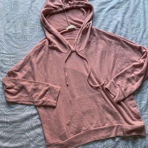 Blush pink color hoodie sweatshirt